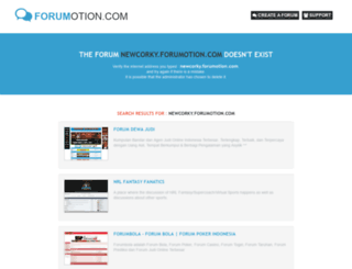 newcorky.forumotion.com screenshot