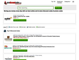 newdiscountcodes.com screenshot