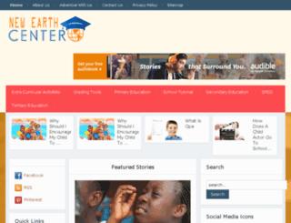 newearthcenter.com screenshot