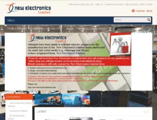 newelectronicslimited.com screenshot