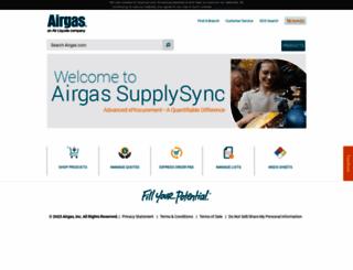 newemarket.airgas.com screenshot