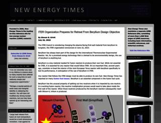 newenergytimes.net screenshot