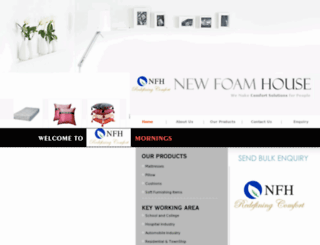 newfoamhouse.com screenshot