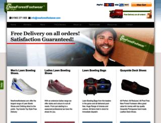 newforestfootwear.com screenshot