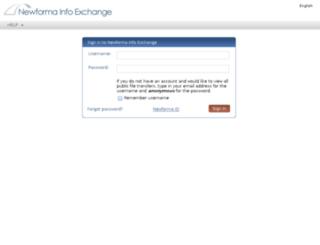 newforma.walshgroup.com screenshot