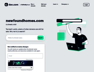 newfoundhomes.com screenshot