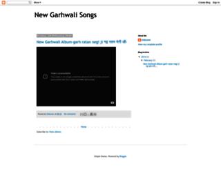 newgarhwalisongs.blogspot.com screenshot