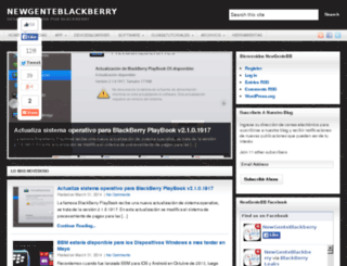 newgenteblackberry.com screenshot