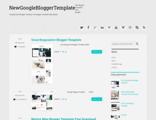 newgooglebloggertemplates.blogspot.in screenshot