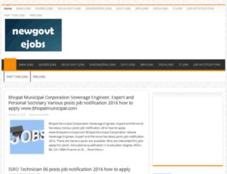 newgovtejobs.com screenshot