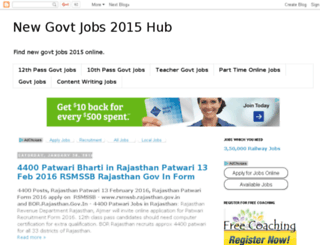 newgovtjobshub.com screenshot