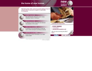 newhomesselect.co.uk screenshot