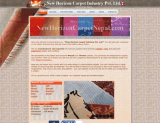 newhorizoncarpetnepal.com screenshot