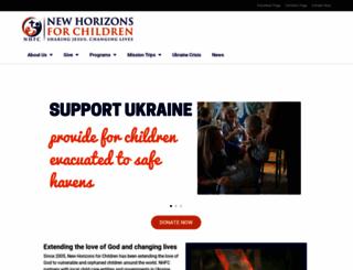 newhorizonsforchildren.org screenshot