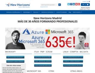 newhorizonsmadrid.com screenshot