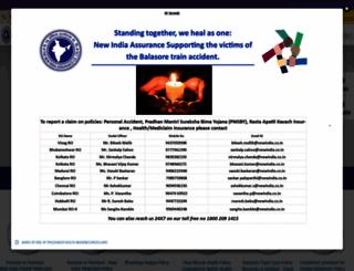 newindia.co.in screenshot