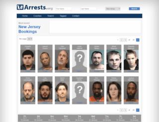 newjersey.arrests.org screenshot