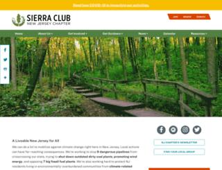 newjersey.sierraclub.org screenshot