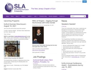 newjersey.sla.org screenshot