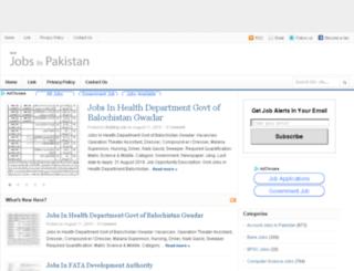 newjobsinpakistan.com screenshot