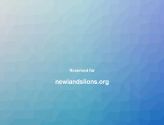 newlandslions.org screenshot