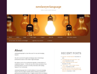 newlawyerlanguage.com screenshot