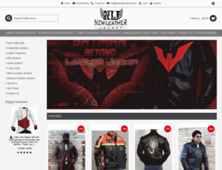 newleatherjacket.com screenshot