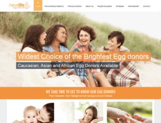 newlifeeggdonors.com screenshot