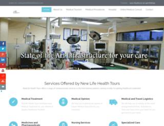 newlifehealthtours.com screenshot