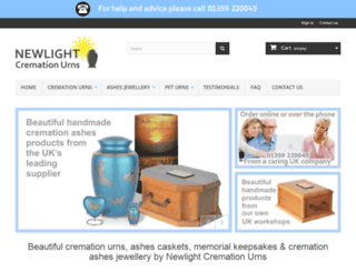 newlightcremationurns.co.uk screenshot