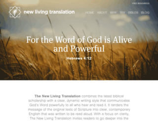 newlivingtranslation.com screenshot