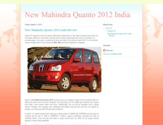 newmahindraquanto2012india.blogspot.in screenshot