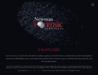 newmanforensicservices.com screenshot
