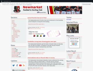 newmarketgaa.com screenshot