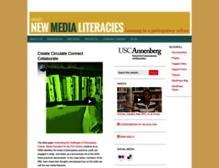 newmedialiteracies.org screenshot
