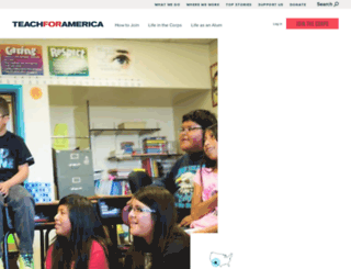 newmexico.teachforamerica.org screenshot