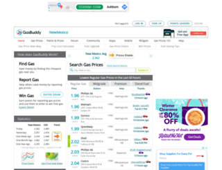 newmexicogasprices.com screenshot