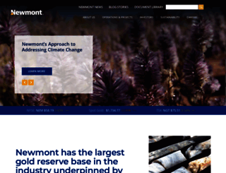 newmont.com screenshot