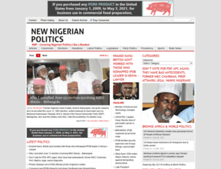 newnigerianpolitics.com screenshot