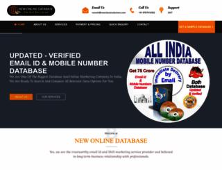newonlinedatabase.com screenshot