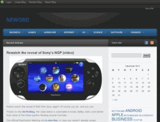 neword.blog.com screenshot