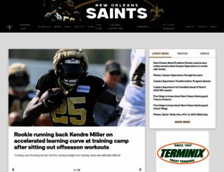 neworleanssaints.com screenshot