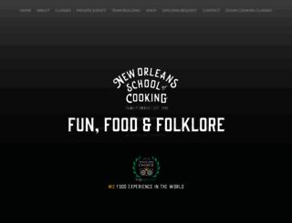 neworleansschoolofcooking.com screenshot