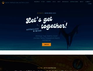 newparadigmastrology.com screenshot