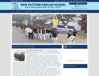newpatternenglishschool.com screenshot