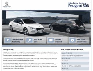 newpeugeot508.co.uk screenshot