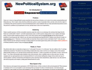 newpoliticalsystem.org screenshot