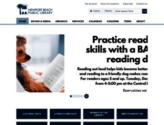 newport.lib.ca.us screenshot