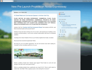 newprelaunchprojectsonnoidaexpressway.blogspot.in screenshot