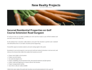 newrealtyprojects.wordpress.com screenshot